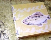 Handmade Art Journal Watercolour Sketchbook - Yellow Fish