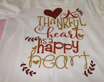 Girls Thanksgiving Shirt, Thanksgiving bling shirt, Baby's 1st Thanksgiving, Fall shirt, fall bling shirt, Thankful Shirt, Girls Bling Tee