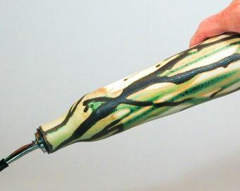 Ceramic Oil Bottle, Pottery Oil bottle with spout, Oil Decanter, Green, Black, White Olive Oil Dispenser, Oil Bottle Cruet