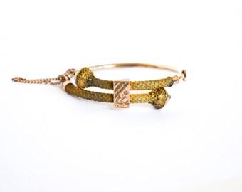 Antique Victorian Etruscan Bypass Bracelet c.1880s