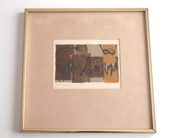 "Robert E. Kushner ""Ferringinous"" Mid Century Modern Abstract Lithograph Signed Numbered"