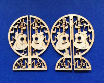 3 Wood 3D  Standing Guitar Blanks