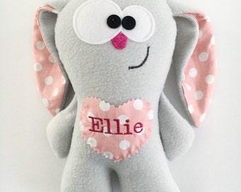 Soft Bunny Toy - Tooth Fairy Pillow - Soft Bunny Plush - Personalized Tooth Pillow - Plush Bunny Toy - Bunny Plush - Stuffed Animal Bunny