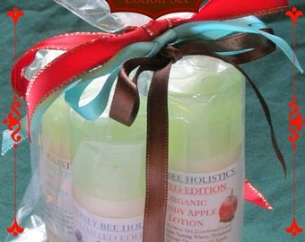 Limited Edition 2016 Holiday Organic Lotion Set - Gingerbread, Winter Dream, Candy Apple