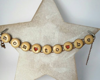 Mom to be, chain bracelet