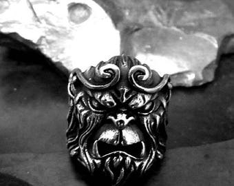 Monkey King Wukong Tie Tack in solid sterling silver Free Domestic Shipping