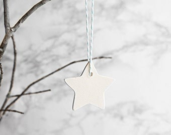 White Star Porcelain Ornaments - Set of 4