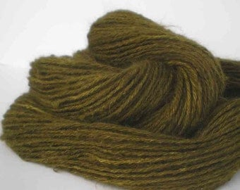 "200 Yds. Handspun Dyed Angora Rabbit Yarn  ""The Mossy Rabbit"""