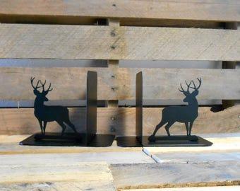 Deer Silhouette Metal Art Bookends Outdoors Wildlife