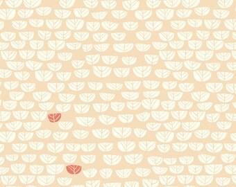 Organic KNIT Fabric - Birch Hidden Garden Knits - Sproutlet Shell Knit