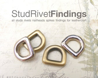 10pcs 10mm ZINC D-ring FOB Purse Hardware Finding for Purse Ring, Clasps Hook Ring drs03/ High Quality