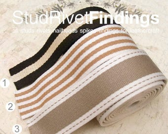 5yards Brown Tone Cotton WEBBING Heavy Duty for Bag Tote Strap making