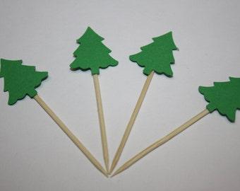 24 mini food picks - Tree