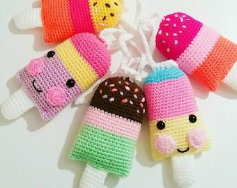 Lollipop Garland, Popsicle Garland, Crochet Garland, Icecream Garland, IN STOCK