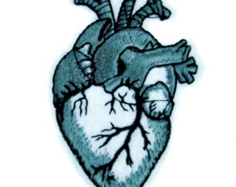 Human Anatomical Heart Patch Iron on Applique Alternative Clothing Medical Oddities - YDS-PA-300-Patch
