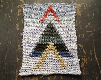 Arrow Tapestry Crochet Rag Rug