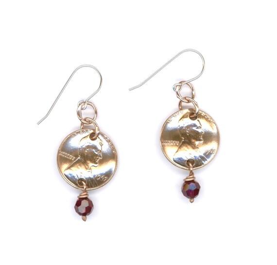 50th Birthday Gifts Handmade Jewelry Ideas 1967 Penny Earrings