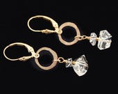 Herkimer Diamond earrings | Herkimer earrings | Herkimer Diamonds | Herkimer Diamond Jewelry | Herkimer Diamond Quartz | 14k Gold Fill