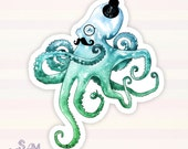 Monocle Octopus vinyl sticker