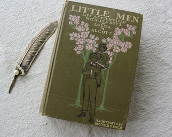 Little Men by Louisa M. Alcott Antique Book 1905