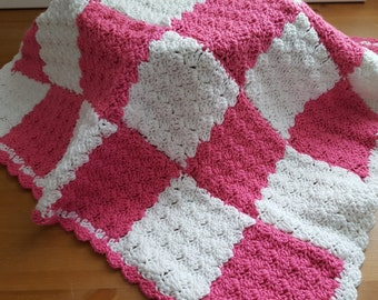 Baby Girl  blanket, handmade, crochet, baby yarn, soft baby blanket,newborn baby blanket