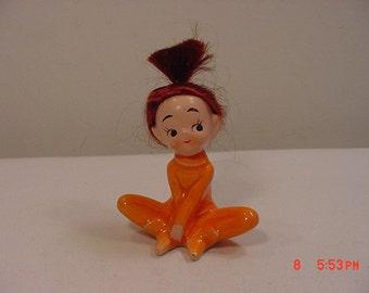 Vintage Brunette Teenage Girl Figurine   17 - 275