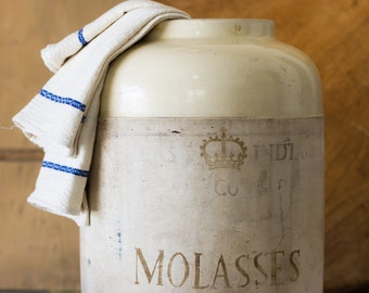 Vintage Molasses Crock, East India Co.