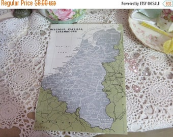 Store Closing SALE Original Color Atlas Map-Book Plate-Bookplate-French-Germany