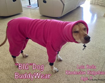 "Big Dog  Fleece Suit  for  Greyhounds, Rhodesian Ridgebacks and all dogs 25"" to 29"""