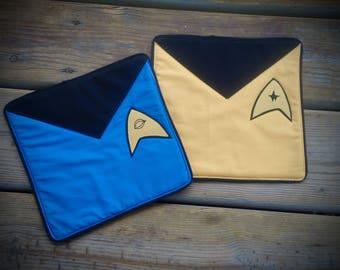 Star Trek mug rug, Trekkie mug rug, Captian and Science officer mug rug