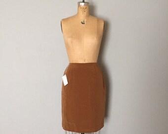40% OFF SALE... hot chocolate silk skirt   80s silk pencil mini skirt