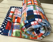 Classic Plaid Baby Boy Quilt