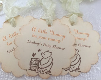 A Little Yummy for your Tummy Tags Winnie the Pooh Honey Tags Set of 10