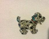 Rhinestone Puppy Needle Minder / Needle Nanny