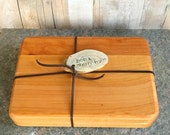 Wood Sandwich Plate, Small Birch Bread and Cheese Serving Platter Sustainably Harvested  Set of 2