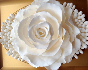"""Modern Decor, 5""""/7""""/2"""" RoseSculpture, French decor, relief, romantic gift,"""