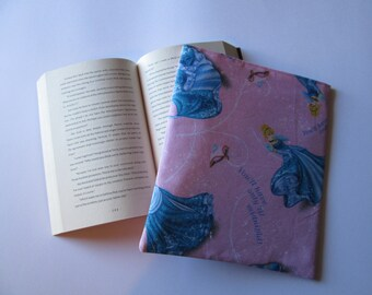 Sparkly Cinderella hard cover book cover, book sleeve, book bag, Bible book bag