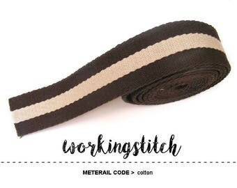 5yards 1.25, 1.5 inch Cotton WEBBING Heavy Duty for Bag Purse Tote Strap