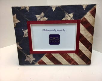 American Flag Frame, Military, Navy, Army, Marines and Veterans