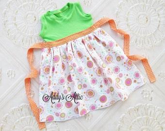 Toddler Girls Clothes, Girls Dress, Spring Dress, Girls Knit Tank Dress,Toddler Girl, Sundress, Baby Girl Dress