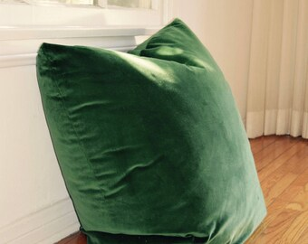 XL Emerald Green Floor Cushion Cover