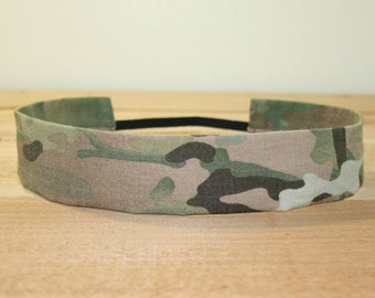 Army Adult Headband Military Multicam Camo