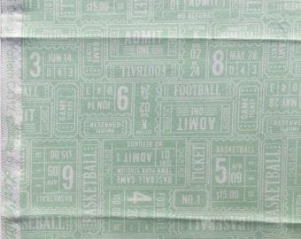 Play Ball Lori Whitlock Riley Blake fabric aqua tickets FQ