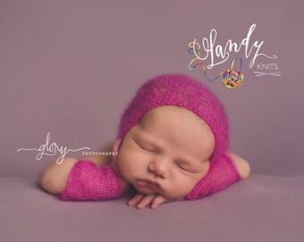Baby bonnet, newborn photo prop, baby girl bonnet, baby boy bonnet, newborn bonnet, newborn hat, infant hat, photo prop, newborn girl, hat