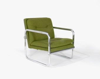 Mid Century Modern Milo Baughman Inspired Lounge Chair