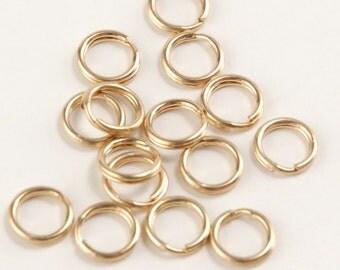 14k Gold Filled Double Split Rings - 6mm