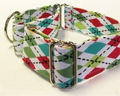 Argyle Adjustable Martingale Dog Collar - Made to Order -