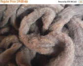ON SALE Dark Chocolate Romney Lambswool Roving-Maine Raised, 4 oz