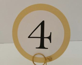 Wedding Table Number Perfect Round Layered Design Prepared in All of my Card Stock and Font Colors