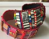 CLOSEOUT half price kits KIT and PATTERN Tutorial Bead Embroidery Hippie Girl Cuff Bracelet